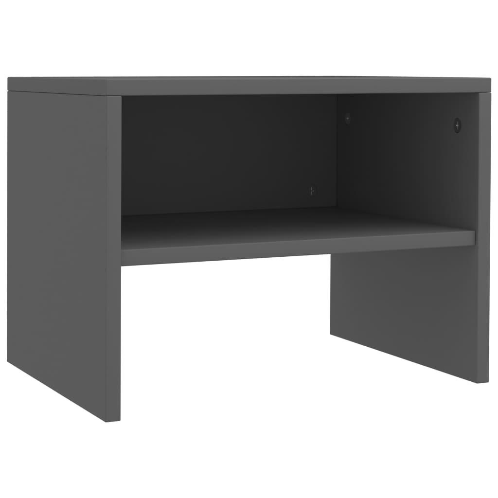 Noční stolek šedý 40 x 30 x 30 cm dřevotříska