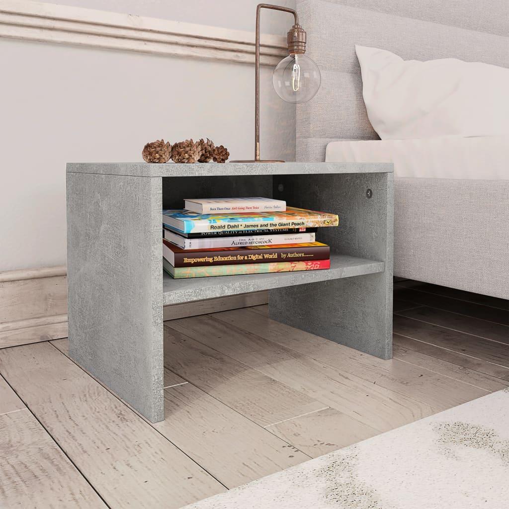 Noční stolek betonově šedý 40 x 30 x 30 cm dřevotříska