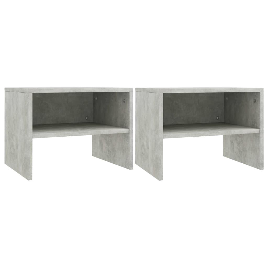 Noční stolky 2 ks betonově šedé 40 x 30 x 30 cm dřevotříska