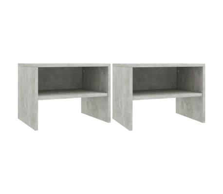 "vidaXL Side Cabinets 2 pcs Concrete Gray 15.7""x11.8""x11.8"" Chipboard[2/7]"