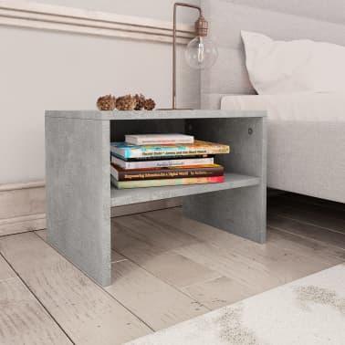 "vidaXL Side Cabinets 2 pcs Concrete Gray 15.7""x11.8""x11.8"" Chipboard[3/7]"