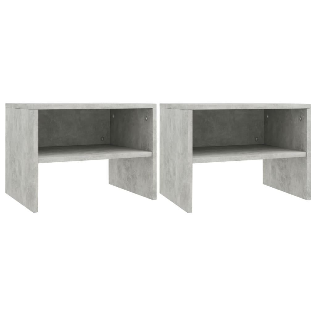 vidaXL Noční stolky 2 ks betonově šedé 40 x 30 x 30 cm dřevotříska