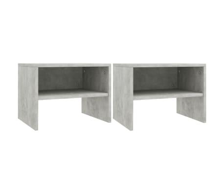 "vidaXL Side Cabinets 2 pcs Concrete Gray 15.7""x11.8""x11.8"" Chipboard[1/7]"