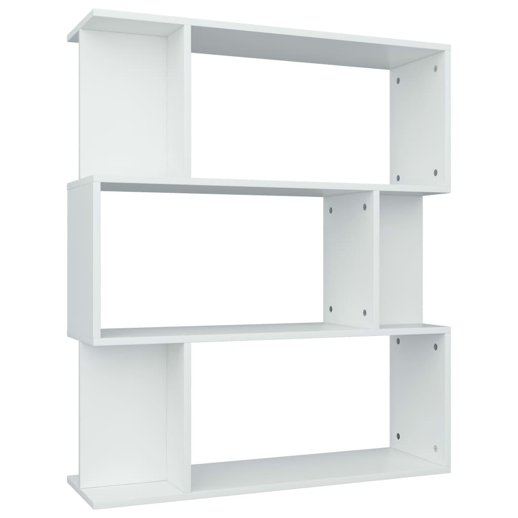 vidaXL Βιβλιοθήκη/Διαχωριστικό Χώρου Λευκό 80x24x96 εκ. Μοριοσανίδα