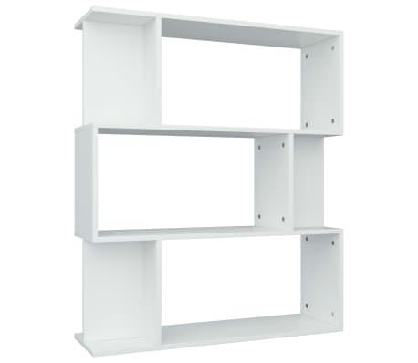 """vidaXL Book Cabinet/Room Divider White 31.5""""x9.4""""x37.8"""" Chipboard[2/8]"""