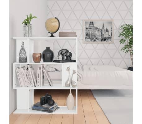 """vidaXL Book Cabinet/Room Divider White 31.5""""x9.4""""x37.8"""" Chipboard[4/8]"""