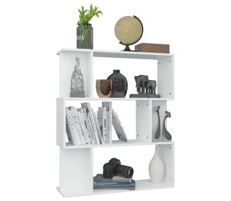 """vidaXL Book Cabinet/Room Divider White 31.5""""x9.4""""x37.8"""" Chipboard[5/8]"""