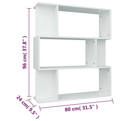 """vidaXL Book Cabinet/Room Divider White 31.5""""x9.4""""x37.8"""" Chipboard[8/8]"""