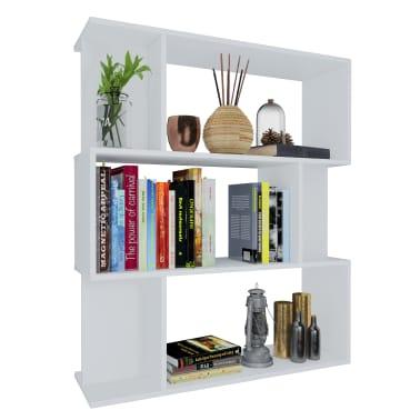 """vidaXL Book Cabinet/Room Divider White 31.5""""x9.4""""x37.8"""" Chipboard[3/8]"""