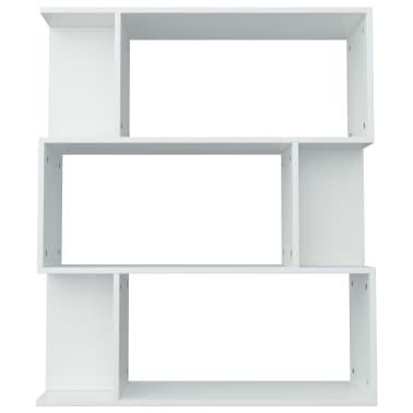 """vidaXL Book Cabinet/Room Divider White 31.5""""x9.4""""x37.8"""" Chipboard[6/8]"""