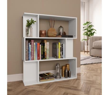 """vidaXL Book Cabinet/Room Divider White 31.5""""x9.4""""x37.8"""" Chipboard[1/8]"""