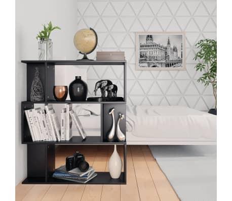 "vidaXL Book Cabinet/Room Divider Black 31.5""x9.4""x37.8"" Chipboard[4/8]"