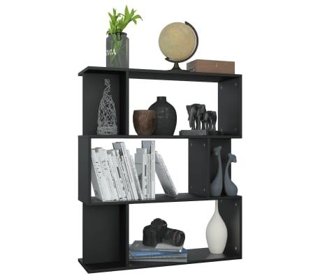 "vidaXL Book Cabinet/Room Divider Black 31.5""x9.4""x37.8"" Chipboard[5/8]"