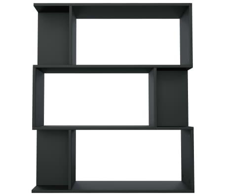 "vidaXL Book Cabinet/Room Divider Black 31.5""x9.4""x37.8"" Chipboard[6/8]"