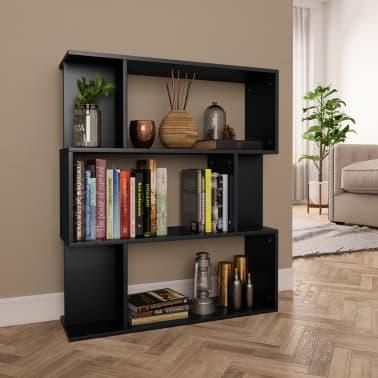 "vidaXL Book Cabinet/Room Divider Black 31.5""x9.4""x37.8"" Chipboard[1/8]"