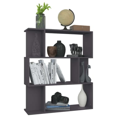 "vidaXL Book Cabinet/Room Divider Gray 31.5""x9.4""x37.8"" Chipboard[5/8]"