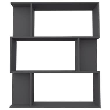"vidaXL Book Cabinet/Room Divider Gray 31.5""x9.4""x37.8"" Chipboard[6/8]"
