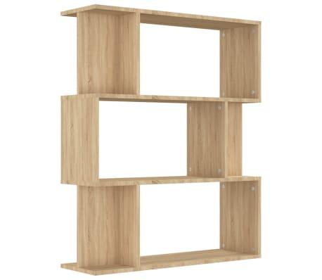 "vidaXL Book Cabinet/Room Divider Sonoma Oak 31.5""x9.4""x37.8"" Chipboard[2/8]"