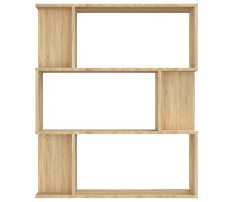 "vidaXL Book Cabinet/Room Divider Sonoma Oak 31.5""x9.4""x37.8"" Chipboard[5/8]"