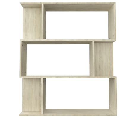 "vidaXL Book Cabinet/Room Divider Sonoma Oak 31.5""x9.4""x37.8"" Chipboard[6/8]"