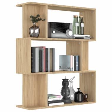 "vidaXL Book Cabinet/Room Divider Sonoma Oak 31.5""x9.4""x37.8"" Chipboard[4/8]"