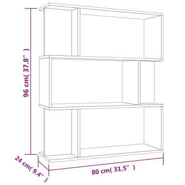 "vidaXL Book Cabinet/Room Divider Sonoma Oak 31.5""x9.4""x37.8"" Chipboard[8/8]"