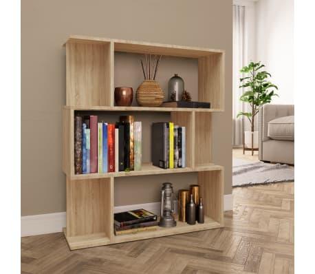 "vidaXL Book Cabinet/Room Divider Sonoma Oak 31.5""x9.4""x37.8"" Chipboard[1/8]"