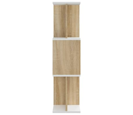 "vidaXL Book Cabinet/Room Divider White and Sonoma Oak 31.5""x9.4""x37.8""[6/8]"