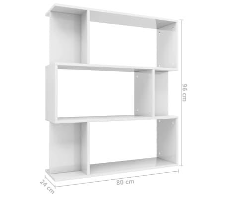 Vidaxl Bücherregalraumteiler Hochglanz Weiß 802496 Cm Spanplatte