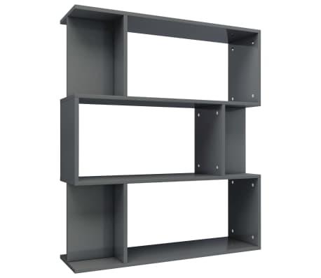 vidaXL Boekenkast/kamerscherm 80x24x96 cm spaanplaat hoogglans grijs