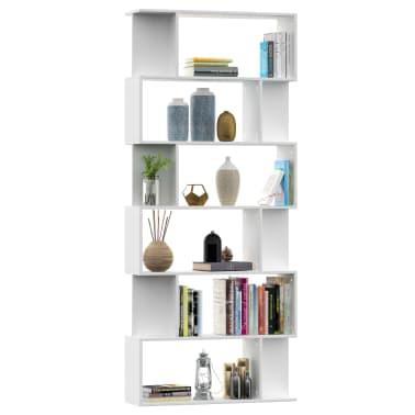 """vidaXL Book Cabinet/Room Divider White 31.5""""x9.4""""x75.6"""" Chipboard[3/7]"""