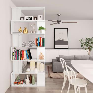 """vidaXL Book Cabinet/Room Divider White 31.5""""x9.4""""x75.6"""" Chipboard[4/7]"""