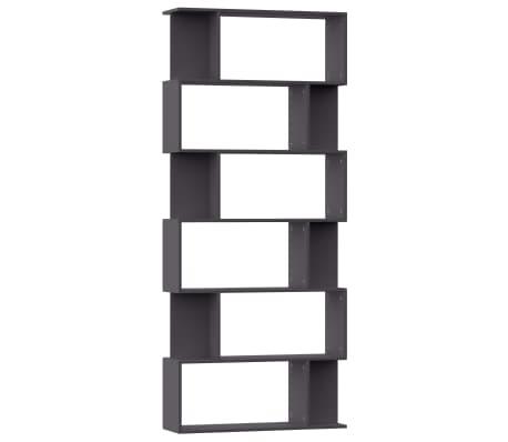 "vidaXL Book Cabinet/Room Divider Gray 31.5""x9.4""x75.6"" Chipboard"