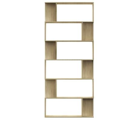 "vidaXL Book Cabinet/Room Divider Sonoma Oak 31.5""x9.4""x75.6"" Chipboard[5/7]"