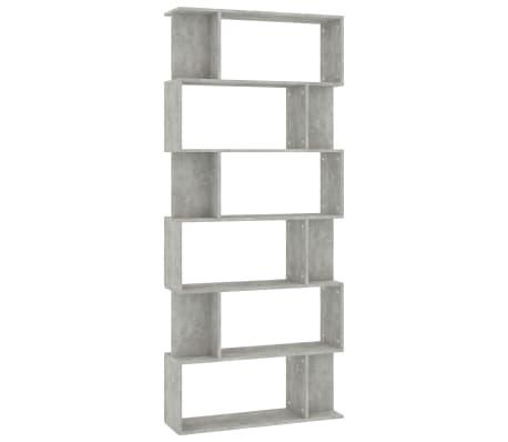 "vidaXL Book Cabinet/Room Divider Concrete Gray 31.5""x9.4""x75.6"" Chipboard"