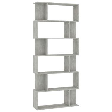"vidaXL Book Cabinet/Room Divider Concrete Gray 31.5""x9.4""x75.6"" Chipboard[2/7]"