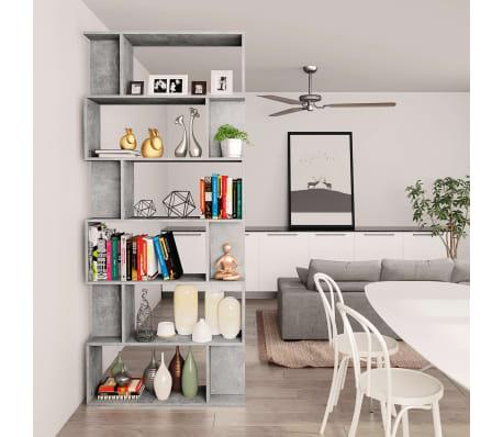 "vidaXL Book Cabinet/Room Divider Concrete Gray 31.5""x9.4""x75.6"" Chipboard[4/7]"