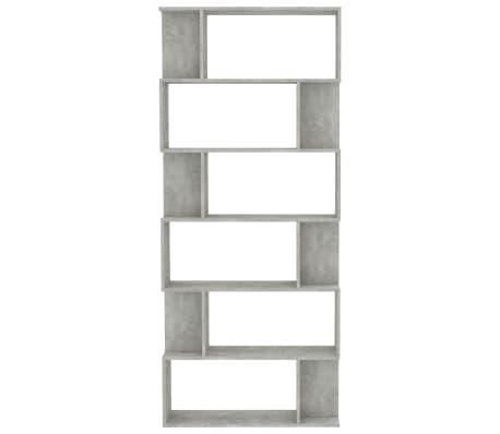 "vidaXL Book Cabinet/Room Divider Concrete Gray 31.5""x9.4""x75.6"" Chipboard[5/7]"