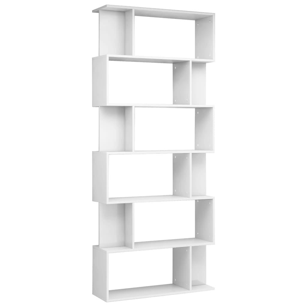 999800096 Bücherregal/Raumteiler Hochglanz-Weiß 80×24×192 cm Spanplatte