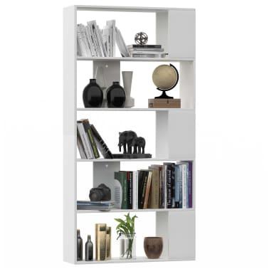 """vidaXL Book Cabinet/Room Divider White 31.5""""x9.4""""x62.6"""" Chipboard[3/7]"""