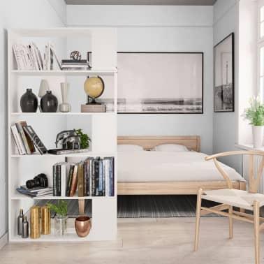 """vidaXL Book Cabinet/Room Divider White 31.5""""x9.4""""x62.6"""" Chipboard[4/7]"""