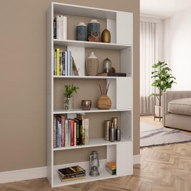 """vidaXL Book Cabinet/Room Divider White 31.5""""x9.4""""x62.6"""" Chipboard[1/7]"""