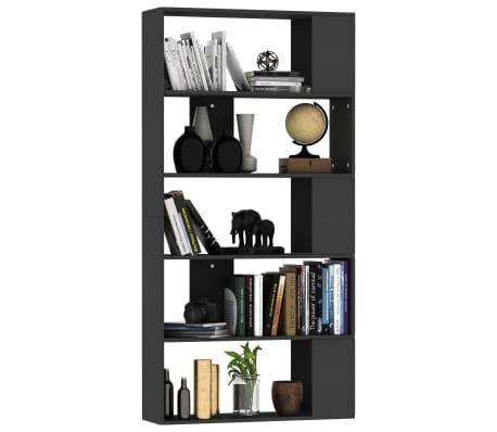 "vidaXL Book Cabinet/Room Divider Black 31.5""x9.4""x62.6"" Chipboard[3/7]"