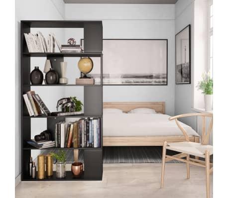 "vidaXL Book Cabinet/Room Divider Black 31.5""x9.4""x62.6"" Chipboard[4/7]"