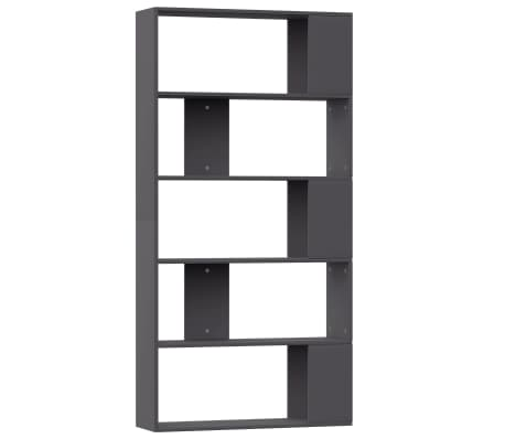 "vidaXL Book Cabinet/Room Divider Gray 31.5""x9.4""x62.6"" Chipboard[2/7]"