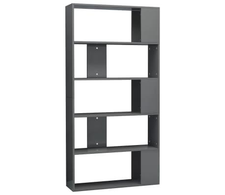 vidaXL Boekenkast/kamerscherm 80x24x159 cm spaanplaat hoogglans grijs