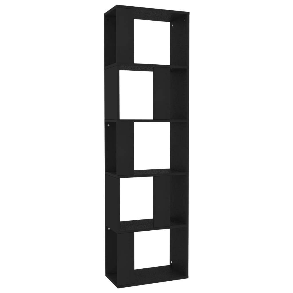 vidaXL Βιβλιοθήκη/Διαχωριστικό Χώρου Μαύρη 45x24x159 εκ. Μοριοσανίδα
