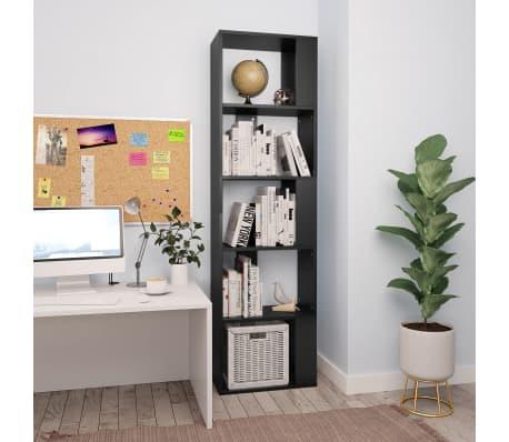 "vidaXL Book Cabinet/Room Divider Black 17.7""x9.4""x62.6"" Chipboard[1/7]"