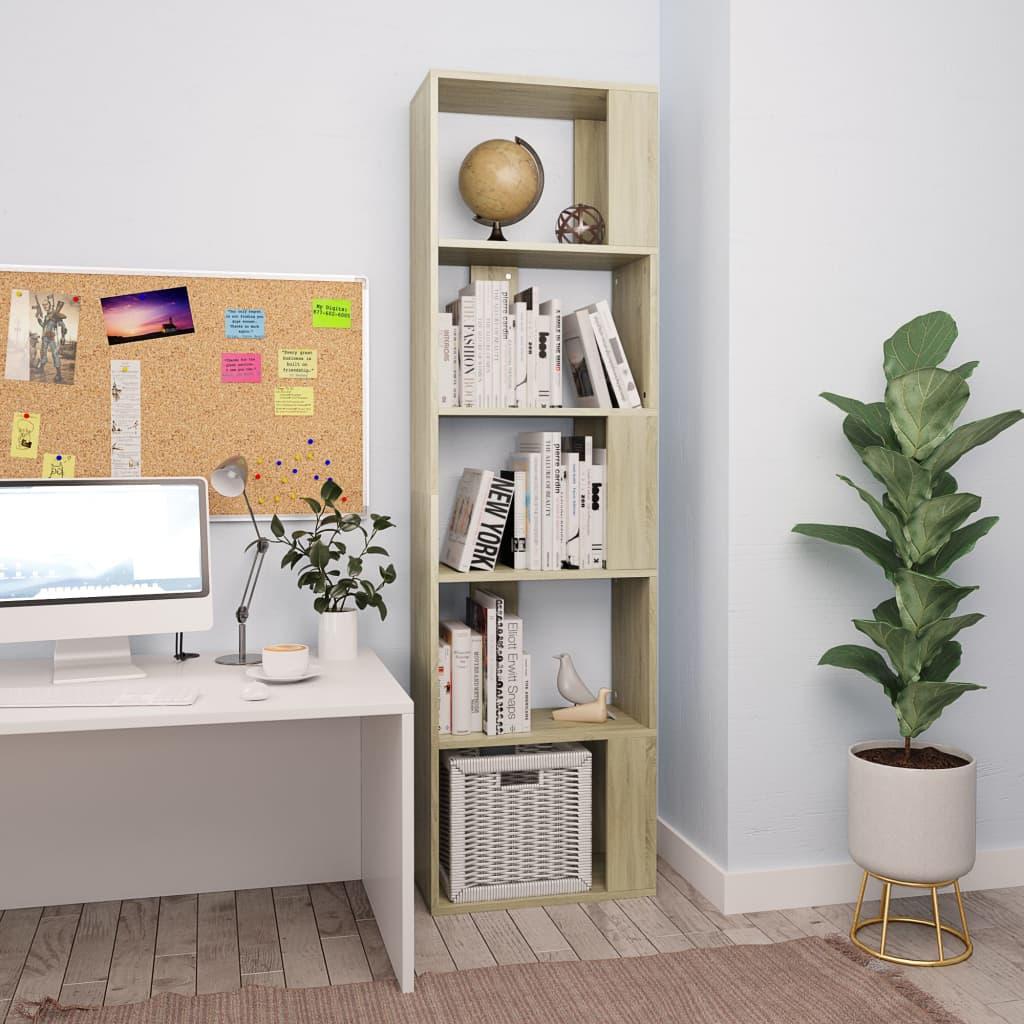Knihovna/zástěna do pokoje dub sonoma 45x24x159 cm dřevotříska