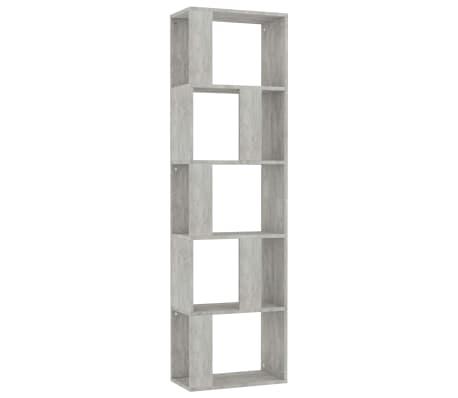 "vidaXL Book Cabinet/Room Divider Concrete Gray 17.7""x9.4""x62.6"" Chipboard[2/7]"